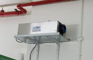 The ProMedUSA model UV SG3000T36 Ozone Generator as recently installed in the Raffles Hotel Bin Centre